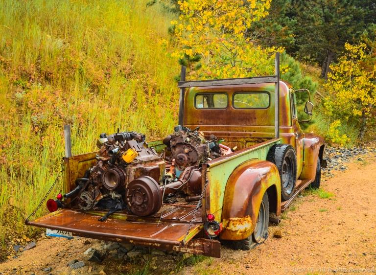 green-brown truck